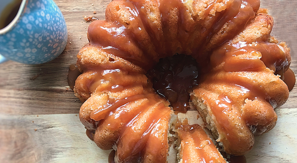 Spiced toffee apple cake recipe