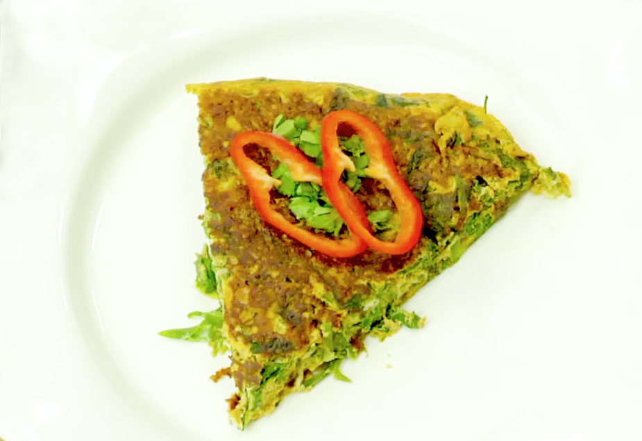 indian spinach omelette
